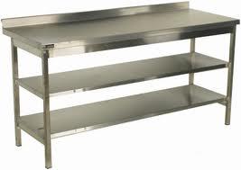 стол кухонный с двумя полками